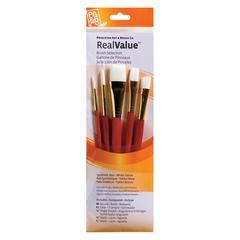 Princeton RealValue Watercolor Acrylic and Tempera White Taklon Brush Set