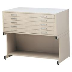 Mayline 5-Drawer C-File Gray