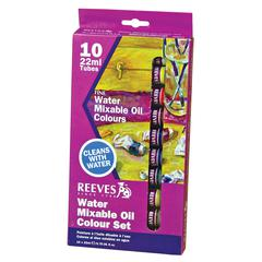 Reeves Water Mixable Oil 10-Color Set