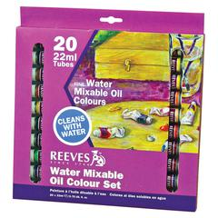 Reeves Water Mixable Oil 20-Color Set