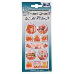 Blue Hills Studio Irene's Garden Wings'n'Things Epoxy Stickers Love