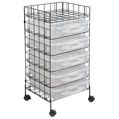 Rack & Go Mobile Cart plus (5) Stow & Go Storage Bins