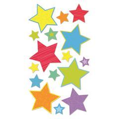 Vellum/Glitter Stickers Primary Stars