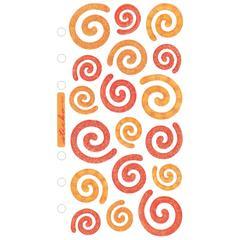 Vellum/Glitter Stickers Red/Orange Swirls
