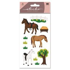 Sticko Vellum/Glitter Stickers Horses