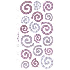 Vellum/Glitter Stickers Blue/Purple Swirls