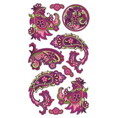 Sticko Vellum/Foil Stickers Dragon Paisley