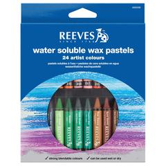 Reeves Water Soluble Wax Pastel 24-Color Set