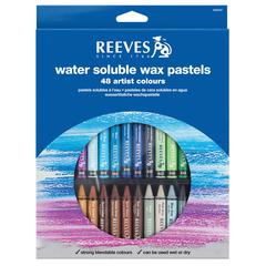 Reeves Water Soluble Wax Pastel 48-Color Set