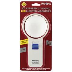 Ultraoptix 4x Round LED Lighted Magnifier