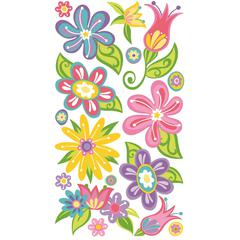 Classic Stickers Small Fanciful Flowers