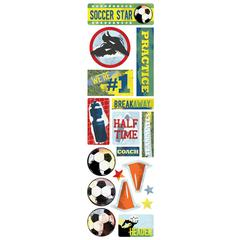 Karen Foster Design Clearly Stickers Soccer Star