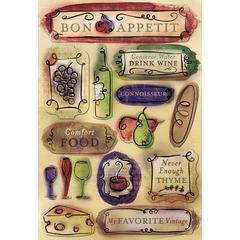 Karen Foster Design Cardstock Sticker Bon Appetit