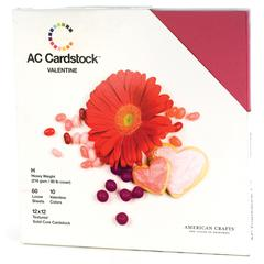 American Crafts AC Cardstock 12 x 12 Variety Pack Valentine