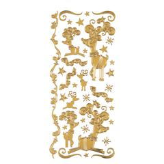 Dazzles Stickers Gold Reindeer