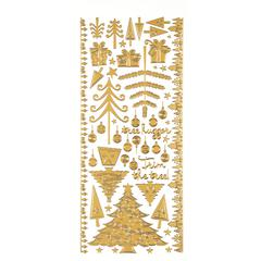 Dazzles Stickers Gold Christmas Trees