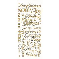 Stickers Gold Christmas Greeting