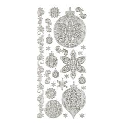 Dazzles Stickers Silver Ornament