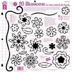 "12"" x 12"" Papercrafing Template Blossoms"