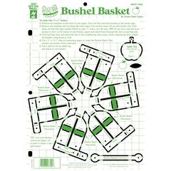 "Hot Off the Press 8.5"" x 12"" Papercrafting Template Bushel Basket"