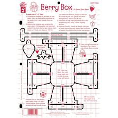 "Hot Off the Press 8.5"" x 12"" Papercrafting Template Berry Box"