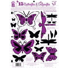 "8.5"" x 12"" Papercrafting Template Butterflies & Dragonflies"