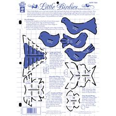 """Hot Off the Press 8.5"""" x 12"""" Papercrafting Template Little Birdies"""