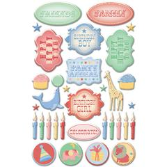 Creative Imaginations Epoxy Sticker Big Top Birthday