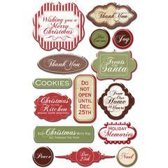 Creative Imaginations Epoxy Sticker Christmas Kitchen