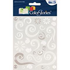 Epoxy Swirl Stickers White