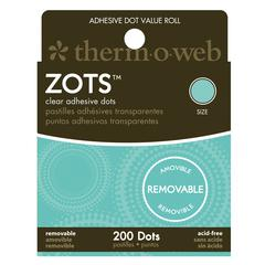 Therm O Web Zots Removable Clear Adhesive Boxed Dots