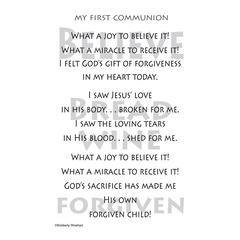 First Communion Sticker