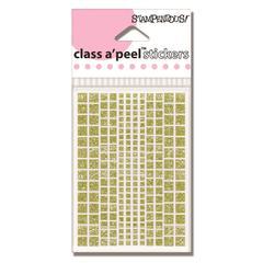 Diamond Dots Sticker Square Gold