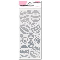 Image Outline Sticker jumbo Eggs Silver