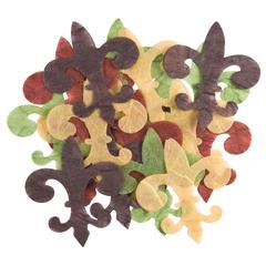 Handmade Paper Die-Cuts Multicolor Fleur De Lys
