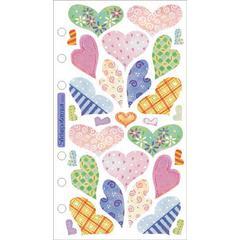 Vellum Stickers Pastel Hearts
