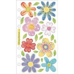 Vellum Stickers Pastel Flowers