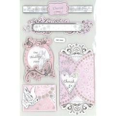3D Foil Embossed Stickers Vintage Cherish