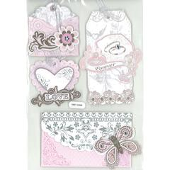 3D Foil Embossed Stickers Vintage Love