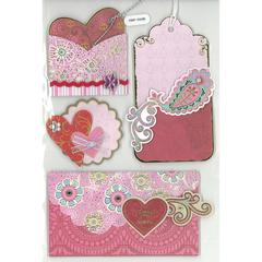 Forever in Time 3D Foil Embossed Stickers Spunky Hearts