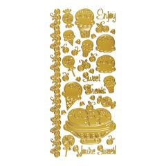 Dazzles Stickers Sweet Treats Gold
