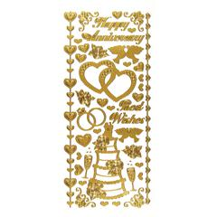 Stickers Wedding & Anniversary Gold