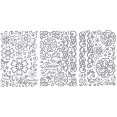 Stickers Floral Silver