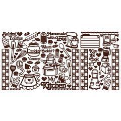 Dazzles Stickers Kitchen Brown