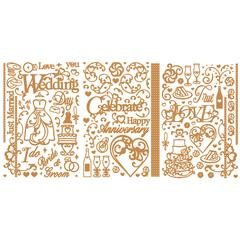Dazzles Stickers Wedding/Anniversary Gold