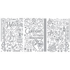 Dazzles Stickers Wedding/Anniversary Silver