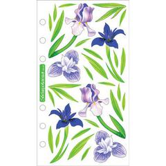 Sticko Vellum Stickers Irises