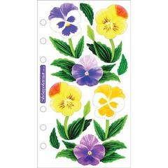 Vellum Stickers Pansies