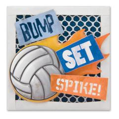 Stacked Sticker Volleyball