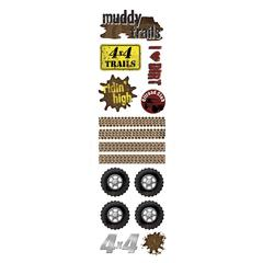 Karen Foster Design Clearly Stickers Muddy Trails